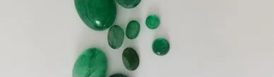 emerald cabs and faceted