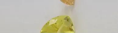 lemon and latte quartz faceted