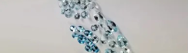 swiss blue topaz faceted