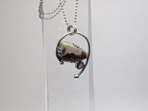 garnet jasper pendant