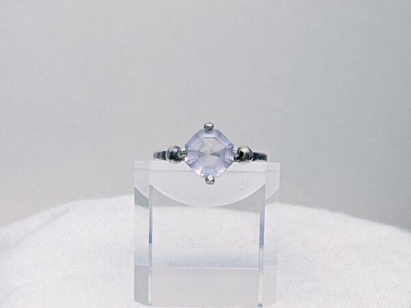 hand crafted rose quartz ring