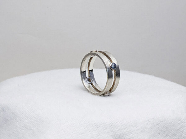 double sapphire band