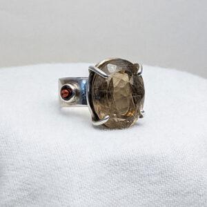 garnet rutilated quartz