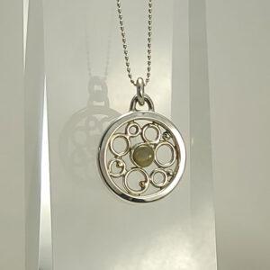 Black Welo opal pendant