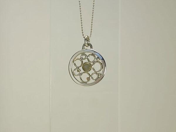 Black Welo opal necklace